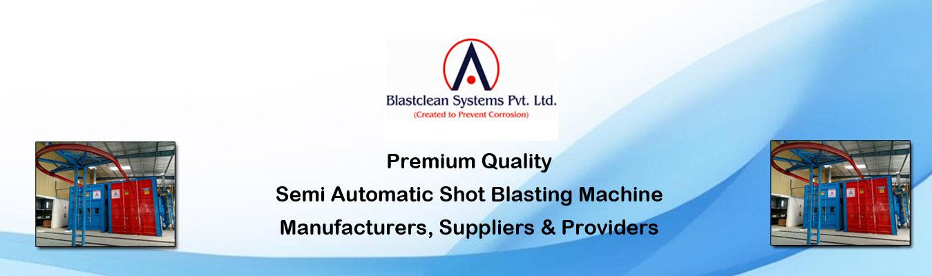 Semi Automatic Shot Blasting Machine